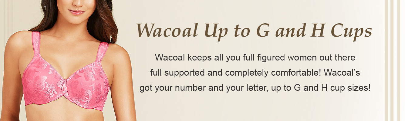 Wacoal Bras up to G and H cup sizes!