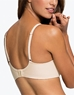 Amazing Assets Back Smoothing T-Shirt Bra, 3/4 Back View in Sand