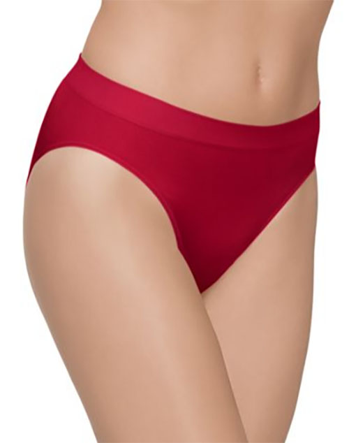 B-Smooth Seamless Hi-Cut Brief in Jester Red