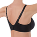 Basic Beauty T-Shirt Spacer Underwire Bra, 3/4 back view in Black
