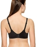 Basic Benefits Spacer T-Shirt Bra, back view in Black/Gray