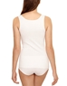 Wacoal Beyond Naked Cotton Blend Tank, Back View in White