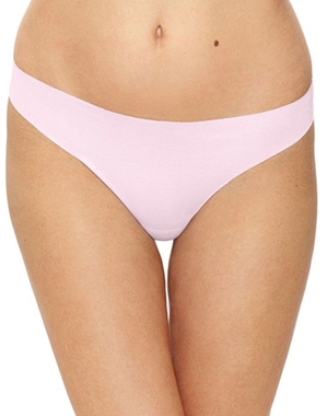 Beyond Naked Cotton Blend Thong in Lilac Snow