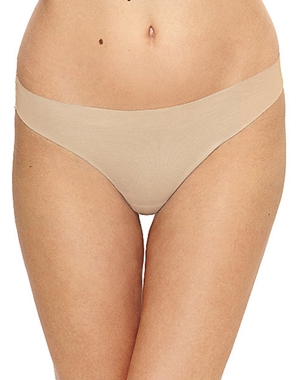 Beyond Naked Cotton Blend Thong in Sand