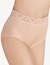 Bodysuede Lace Waist Brief in Natural Nude