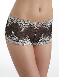 Embrace Lace Boyshort in Black/Ivory
