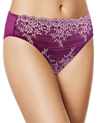 Embrace Lace Hi-Cut Brief in Hollyhock/Chalk Pink