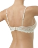 Embrace Lace Petite Push Up Underwire Bra, 3/4 Back in Sand/Ivory