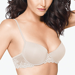 Embrace Lace Petite Push Up Underwire Bra in Natural Nude
