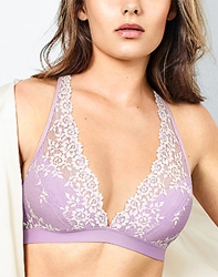 Embrace Lace Wire Free Bra in Lavender