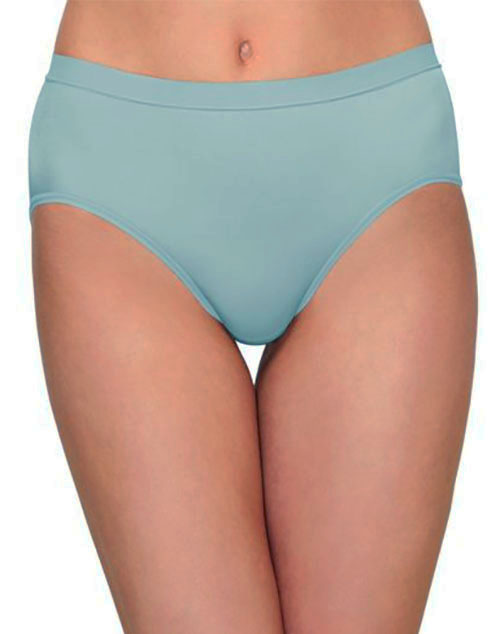 Flawless Comfort Hi-Cut Brief Panty in Slate