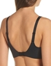 Flawless Comfort Underwire Bra, Back View in Black