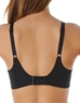 Flawless Comfort T-Shirt Bra, Back View in Black