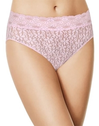 Halo Lace Hi-Cut Brief Panty in Lilac Snow