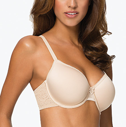 Halo Lace Spacer Underwire T-Shirt Bra in Natural Nude