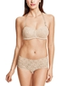 Halo Lace Strapless Bra and Boyshort in Sand