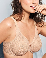 Wacoal Halo Lace Underwire Bra, Up to G Cup! Style # 851205 wacoal halo lace underwire bra, 851205 lace bra, halo lace, tshirt bra, unlined, g cup bras, bras without padding, bridal