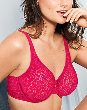 Halo Lace Underwire Bra in Love Potion