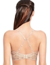 Halo Lace Wire Free Convertible Bra, back view in Sand
