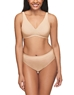 How Perfect Full Figure Wire Free Bra and Matching Panty in Sand