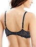 Lace Affair T-Shirt Bra in Black/Graphite, Back View