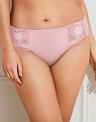 Lace Impression Hi-Cut Brief in Mauve
