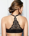 Lace Impression Racerback Underwire T-Shirt Bra in Black