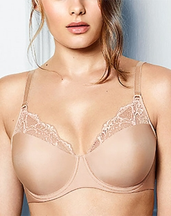 Lace Impression Seamless Underwire Bra in Brush