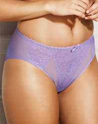Retro Chic Hi-Cut Brief in Violet Tulip