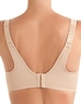 Wacoal Sport Underwire Bra, Back View in Sand