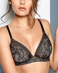 Take The Plunge Underwire Bra in Black