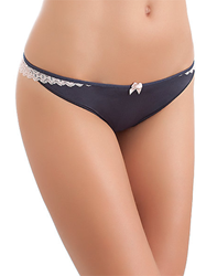 b.temptd Wrap Star Thong in Iron