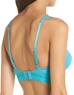 b.tempt'd Spectator Triangle Bralette, Back View in Peacock Blue