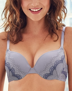 b.tempt'd Wink Worthy Push-Up Bra in Lavender Aura