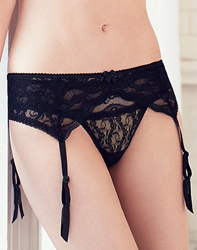 Lace Kiss Garter Belt in Night
