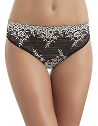 Embrace Lace Hi-Cut Brief in Black/Ivory