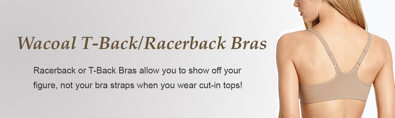 Racerback or T-Back Bras by Wacoal