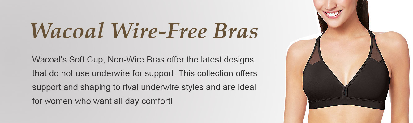 Wire-Free, Soft Cup, Non-Wire Bras by Wacoal