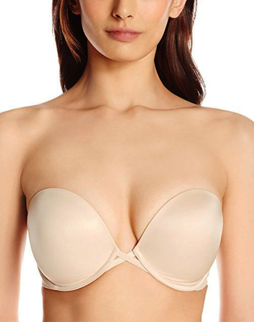 Amazing Assets Strapless Push Up Bra in Sand