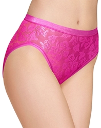 Awareness Hi Cut Brief in Rose Violet