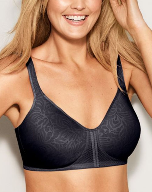3a2f027399414 ... White  Wacoal Awareness Wire Free T-Shirt Bra in Obsidian ...