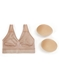 B-Smooth Wire Free Bra in Sand/Removable Pads