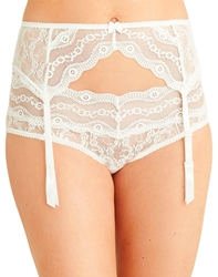 Lace Kiss Garter Belt in White