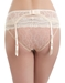 Lace Kiss Garter Belt in Au Natural (N/A), Back View