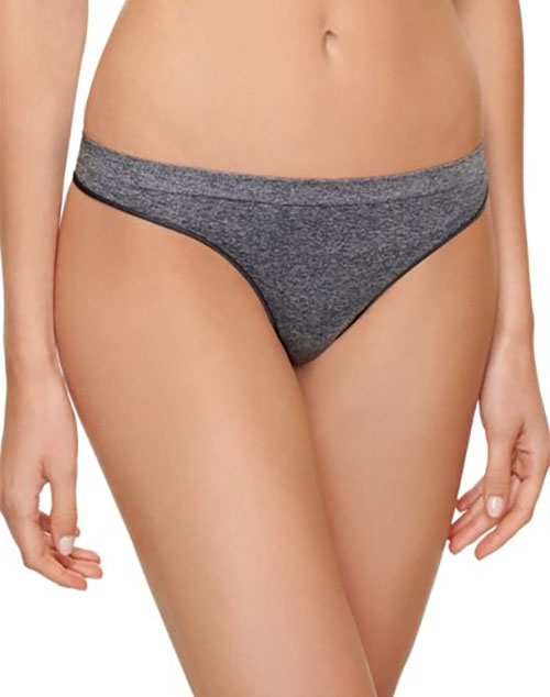 B.splendid Thong in Dark Gray/Heather