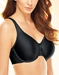 Basic Beauty Full Figure, Seamless Underwire Bra in Black