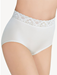 Bodysuede Lace Waist Brief in Ivory