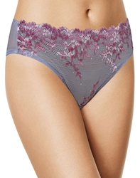 Embrace Lace Hi-Cut Brief in Light Gray/Multi