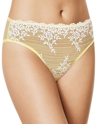 Embrace Lace Hi-Cut Brief in Pale Banana/White Alyssum