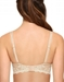 Embrace Lace Plunge Underwire Contour Bra, Back View in Sand/Ivory